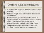 conflicts with interpretations