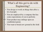 what s all this got to do with engineering