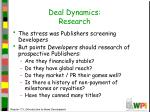 deal dynamics research
