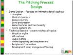 the pitching process design