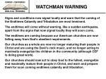 watchman warning