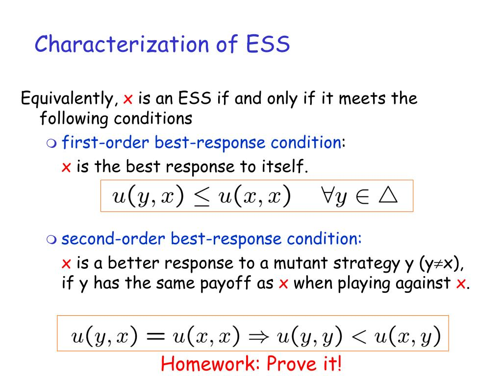 Characterization of ESS