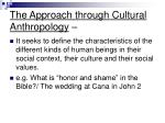 the approach through cultural anthropology