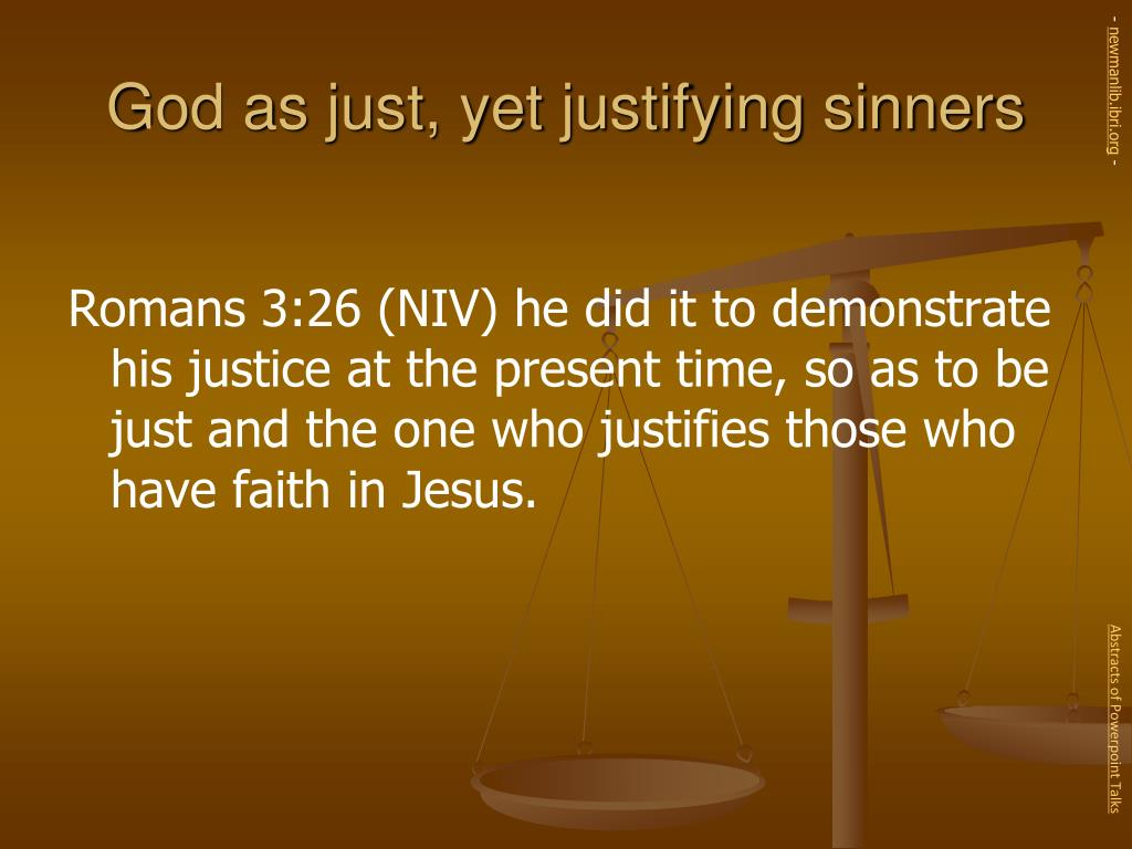 God as just, yet justifying sinners