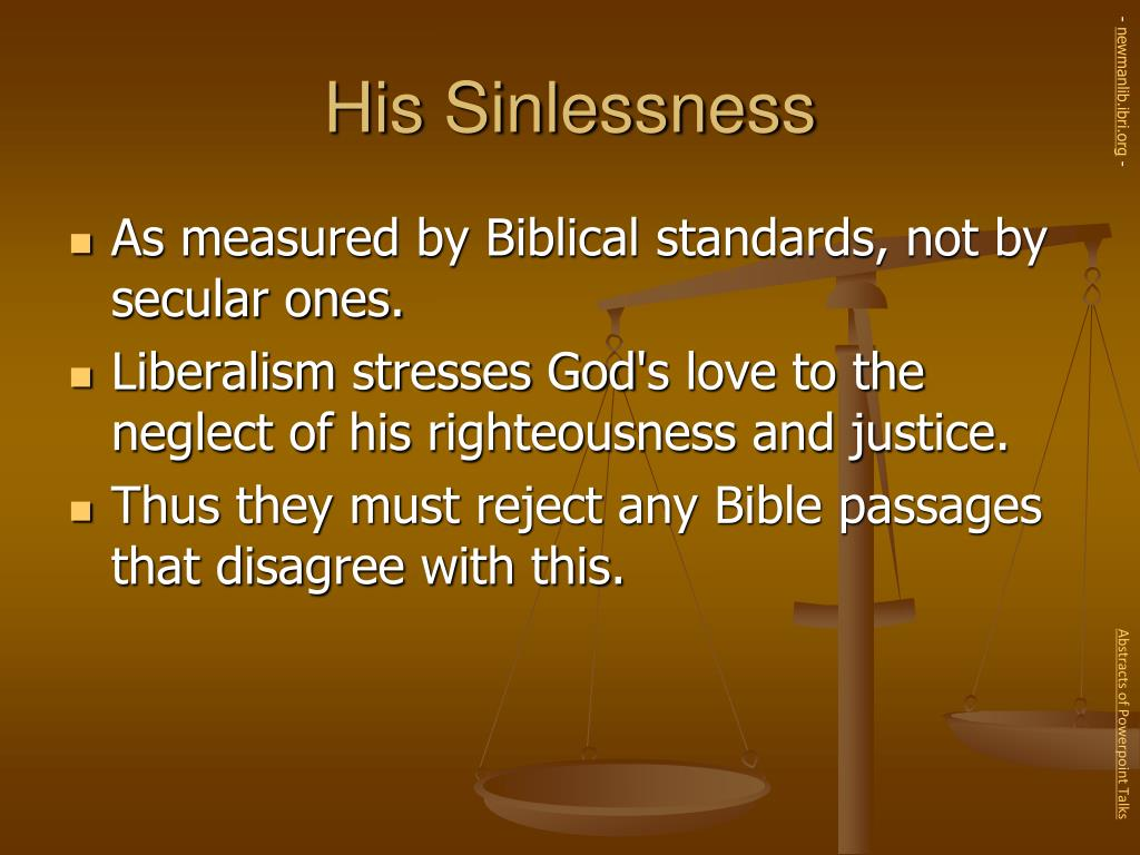 His Sinlessness