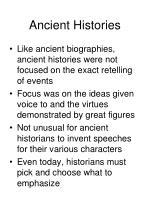 ancient histories