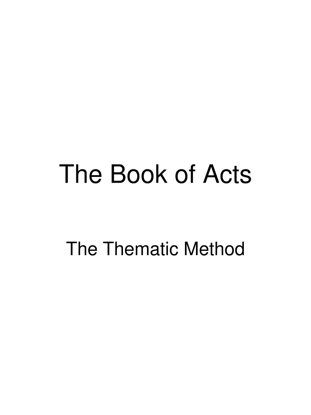 the book of acts l.