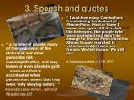 3 speech and quotes