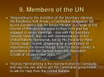 9 members of the un