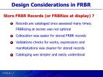 design considerations in frbr5