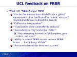 ucl feedback on frbr