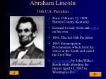 abraham lincoln 16th u s president