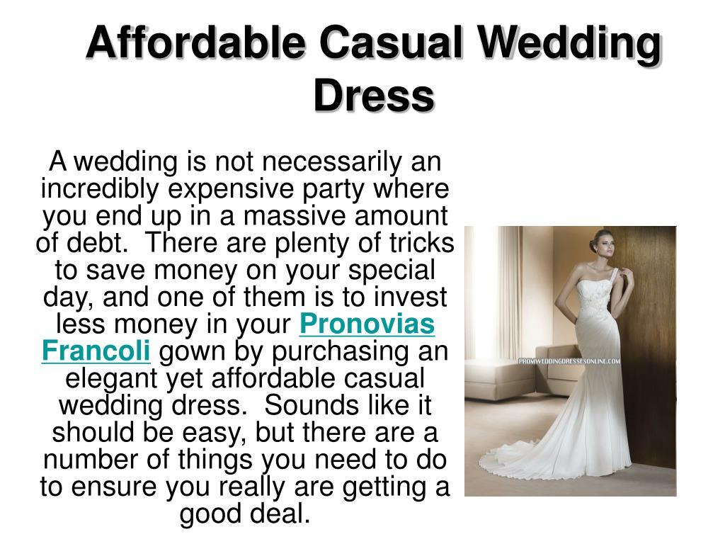 affordable casual wedding dress l.