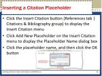 inserting a citation placeholder