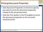 printing document properties64