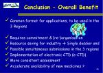 conclusion overall benefit