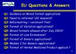 eu questions answers
