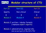 modular structure of ctd