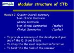 modular structure of ctd6