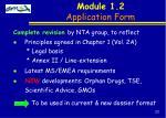 module 1 2 application form