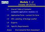 module 1 of volume 2b nta
