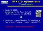 nta ctd implementation time frames18