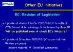 other eu initiatives39