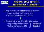 regional eu specific information module 1
