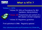 what is nta