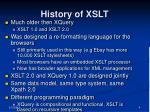 history of xslt