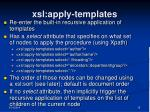 xsl apply templates