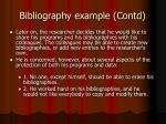 bibliography example contd