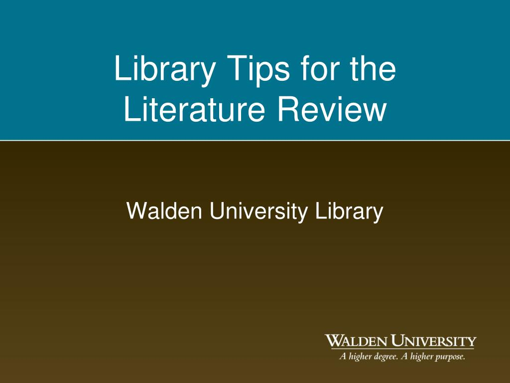 walden university library l.