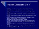 review questions ch 7