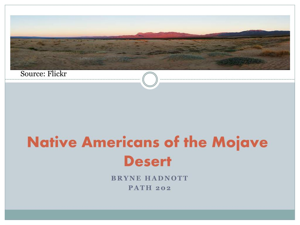 native americans of the mojave desert l.