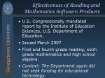 effectiveness of reading and mathematics software products