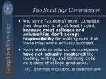 the spellings commission