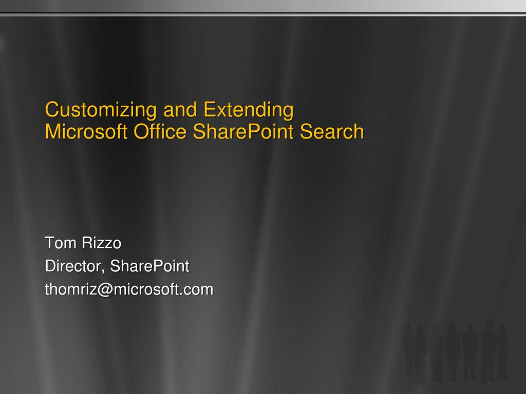 customizing and extending microsoft office sharepoint search l.