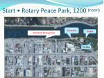 start rotary peace park 1200 noon