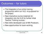 outcomes for tutors