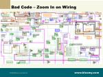 bad code zoom in on wiring