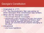 georgia s constitution