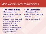 more constitutional compromises