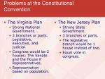 problems at the constitutional convention