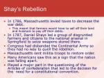 shay s rebellion