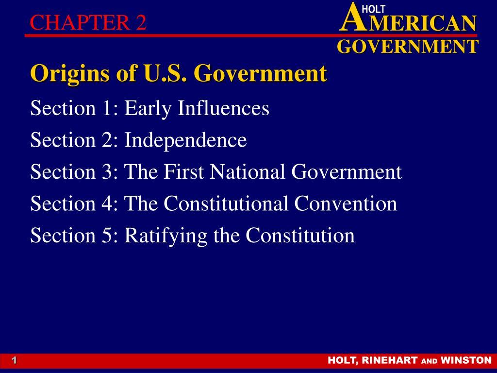 origins of u s government l.