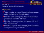 section 3 the first national government
