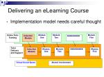 delivering an elearning course