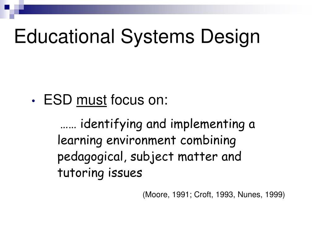 Educational Systems Design