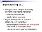 implementing esd